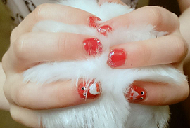 Penguin Nails Red