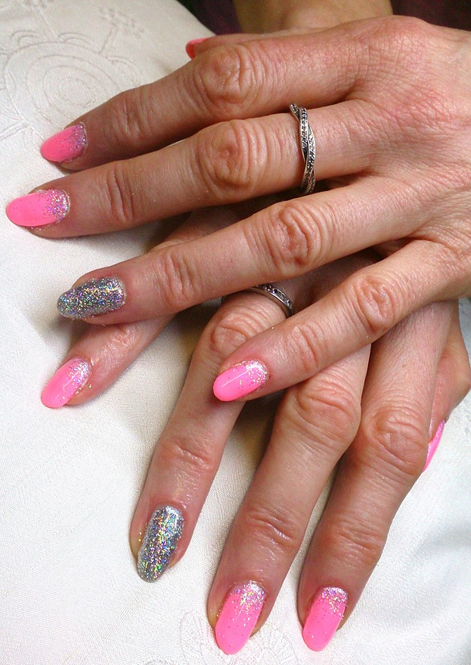 Make You Blink Pink with holographic Silver Glitter